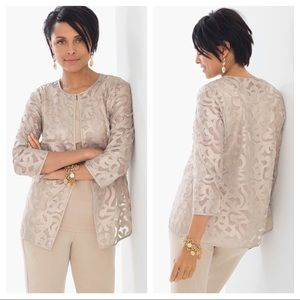 NEW Chico's Lace Scroll jacket